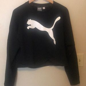 Cropped puma sweater